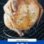 beer can chicken on grill cooking
