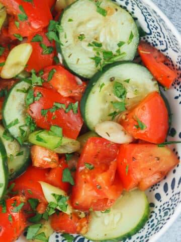 tomato salad in bowl