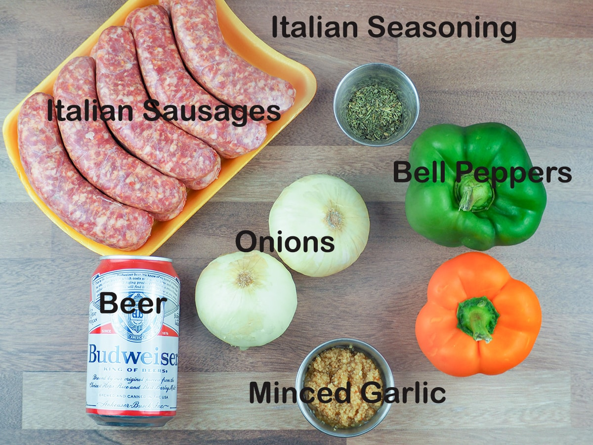 ingredients for Italian sausages