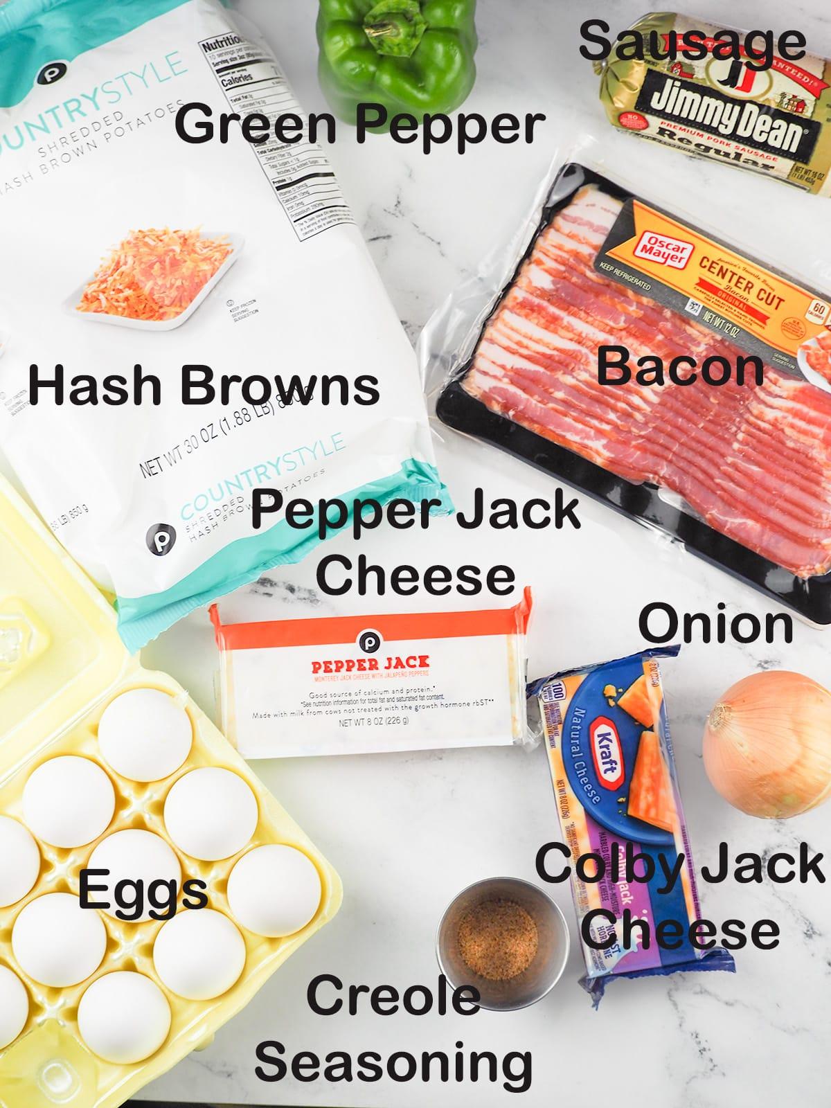 ingredients for lumberjack breakfast casserole